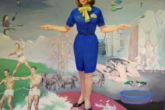 l'hotesse de l'air, 210x200cm, hile sur toile